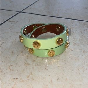 Mint Tory Burch wrap around bracelet